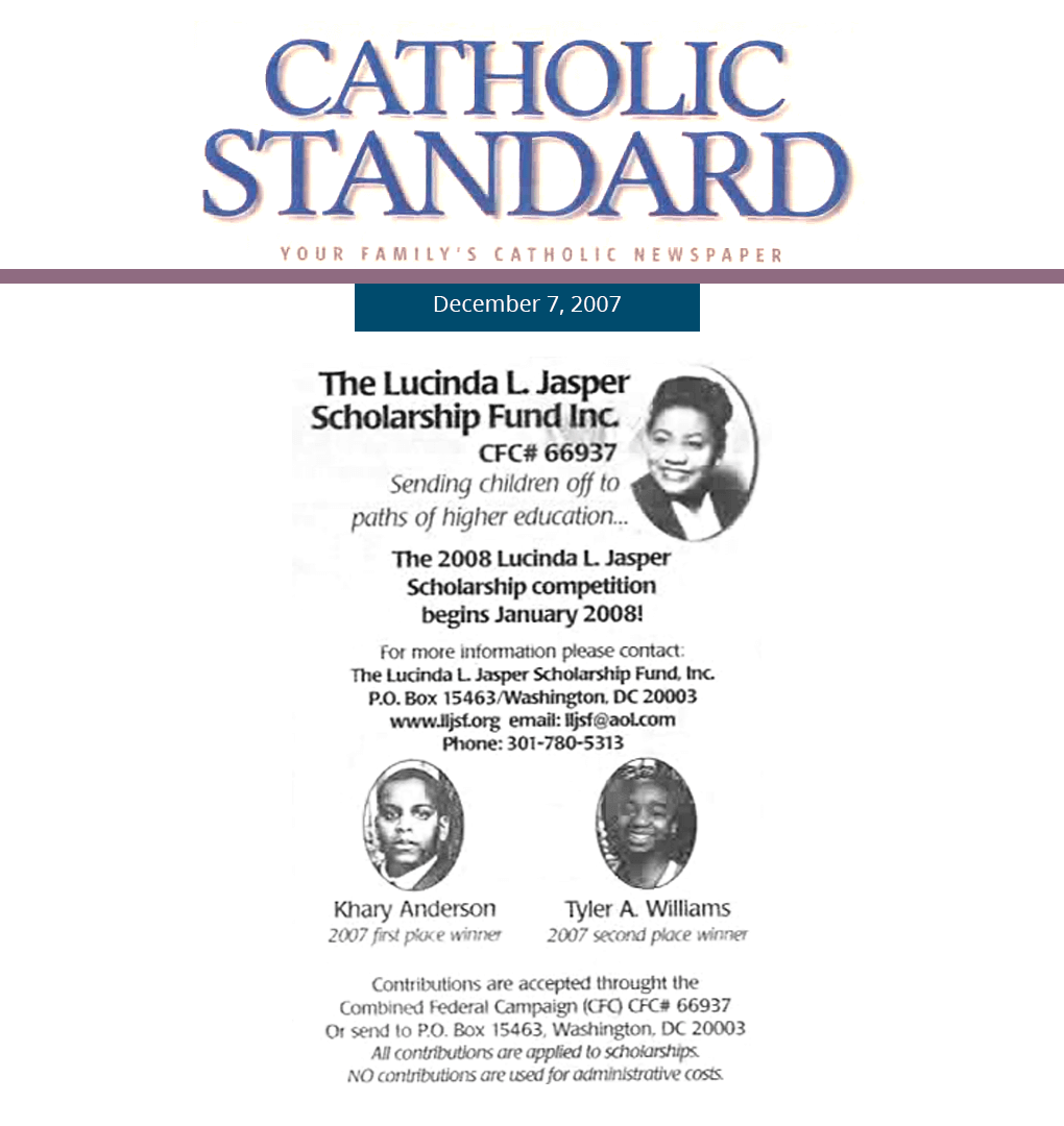 Catholic Standard Article